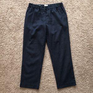 Loft blue striped dress pant